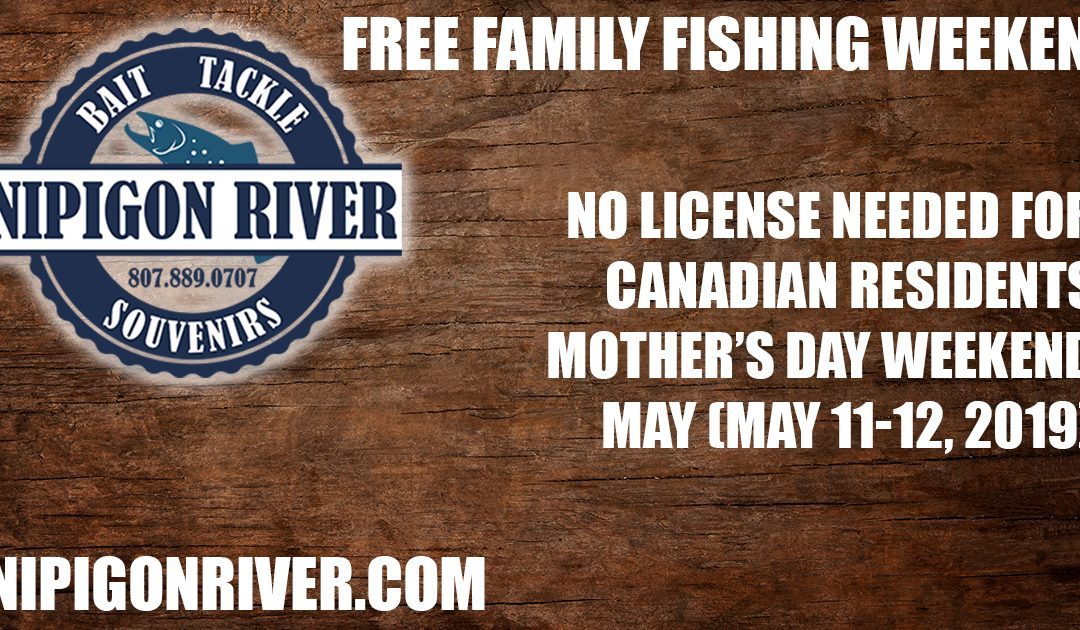 Family fishing weekend… no license required